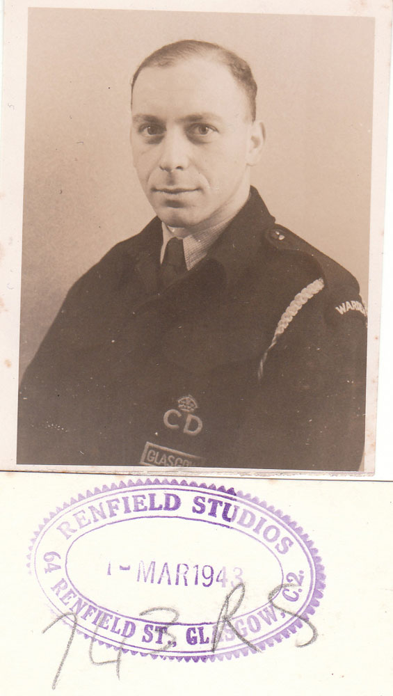 1943 Martin Anson  in Civil Defence Uniform