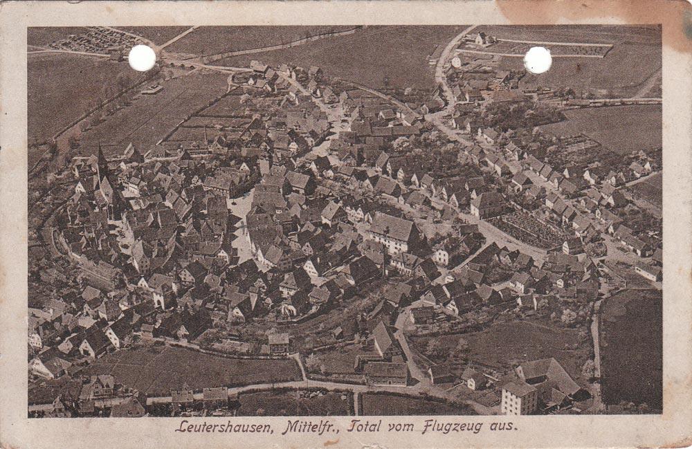 Aerial picture of Leutershausen 1920 circa
